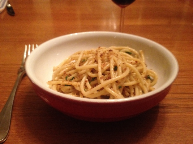 Pasta with Garlic, Anchovies, Chili and Breadcrumbs