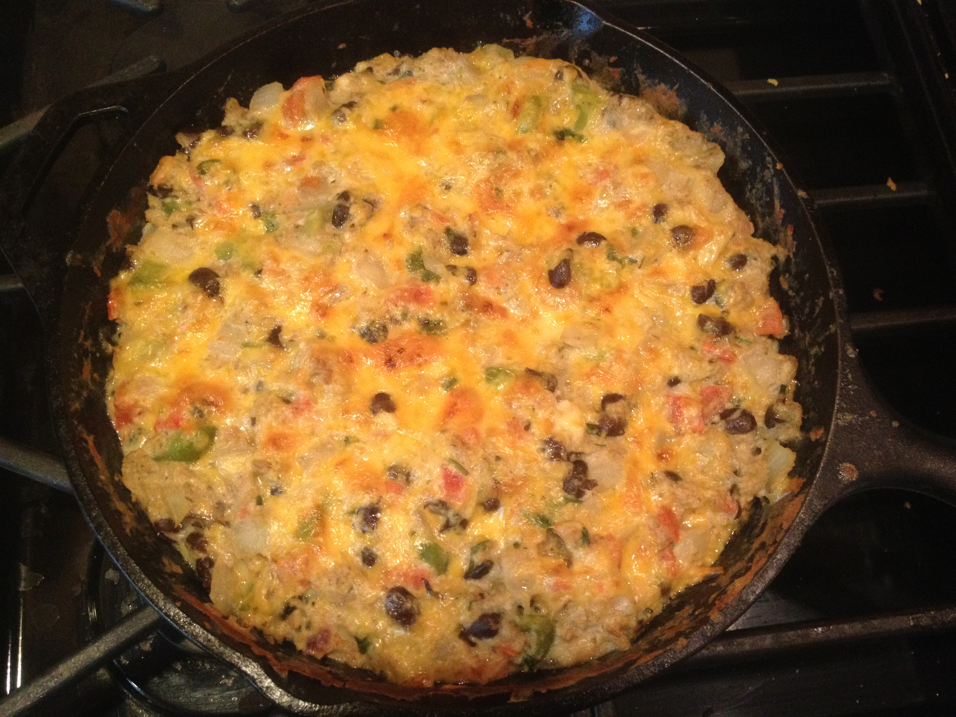 Southwestern Frittata with Peppers, Black Beans, and Cheddar | Emmy ...