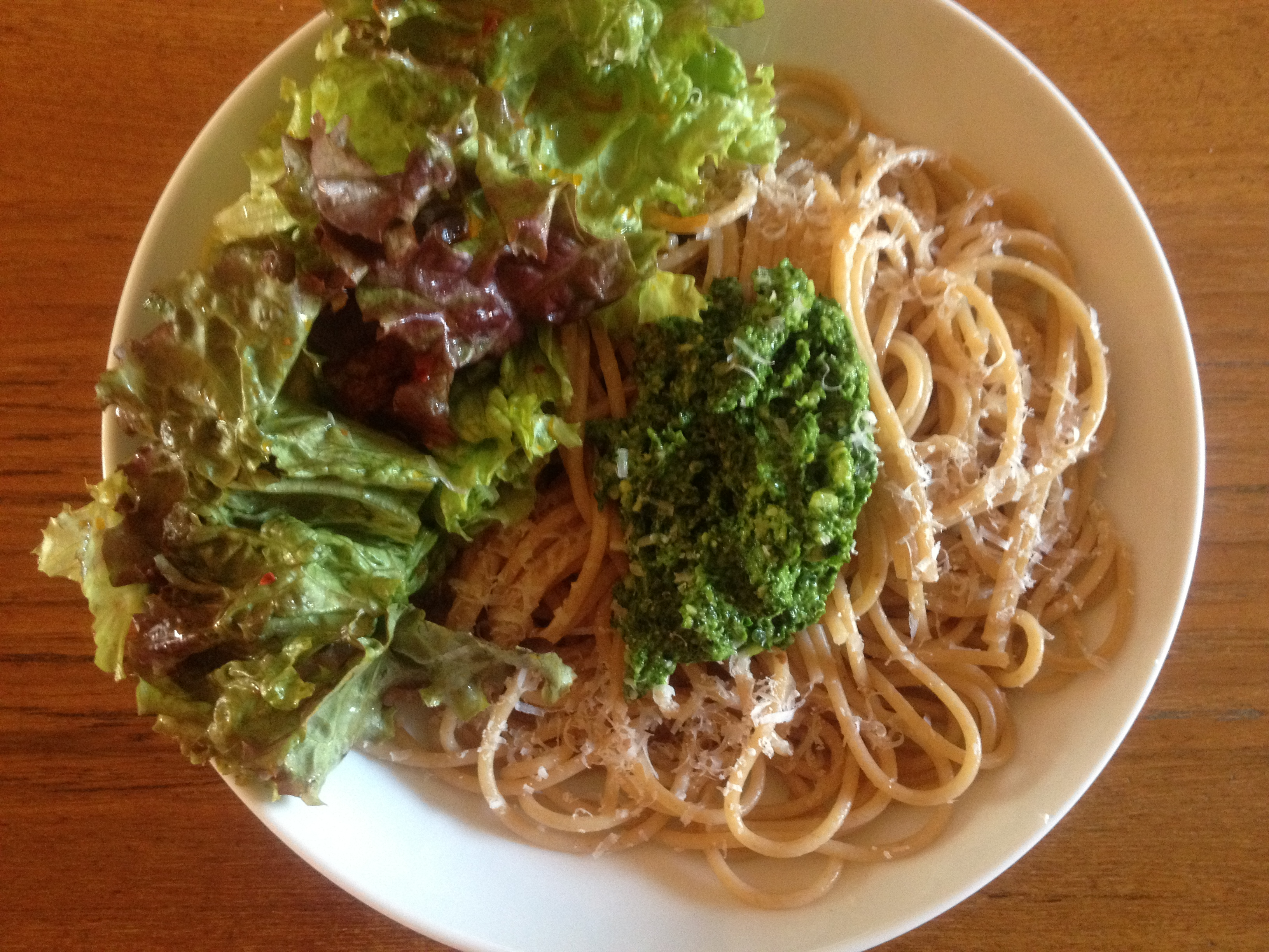 Parsley Pesto, with or without Whole Wheat Pasta | Emmy Cooks
