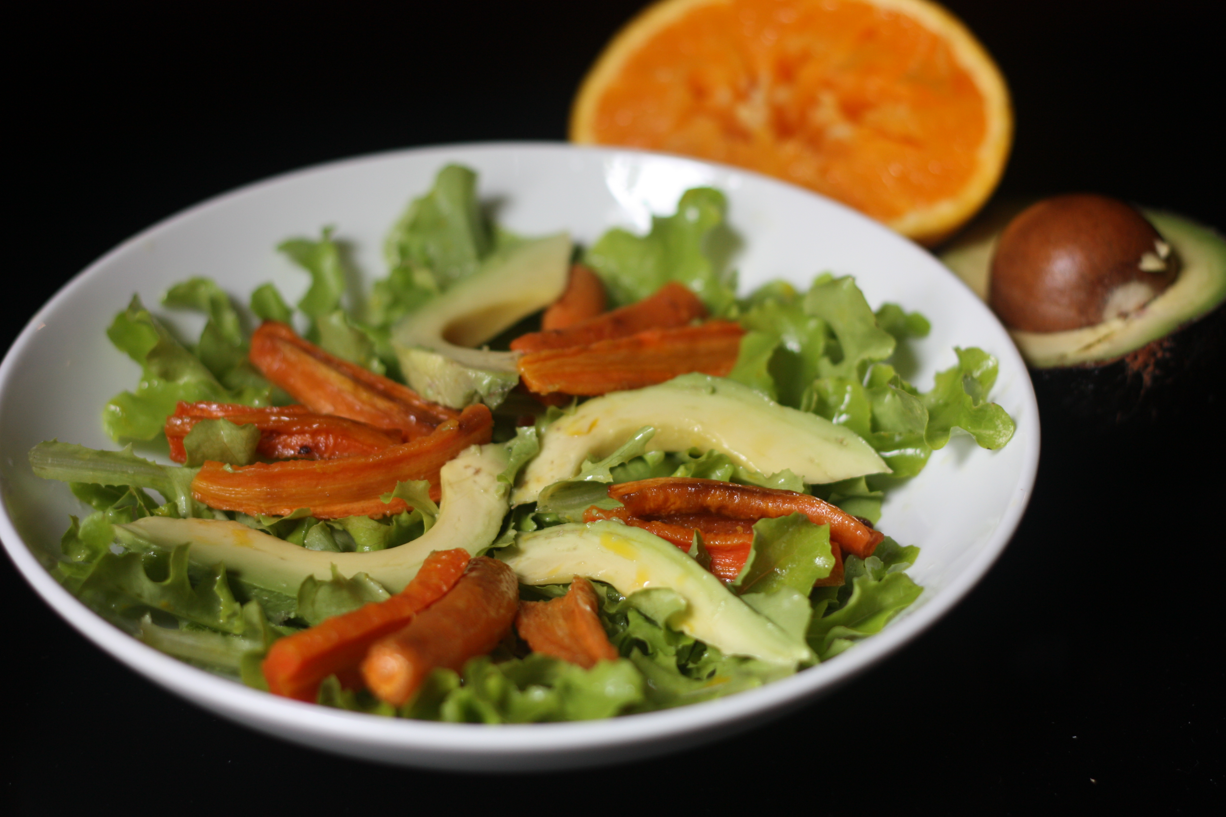 Orange-Roasted Carrot and Avocado Salad with Cumin Vinaigrette | Emmy ...