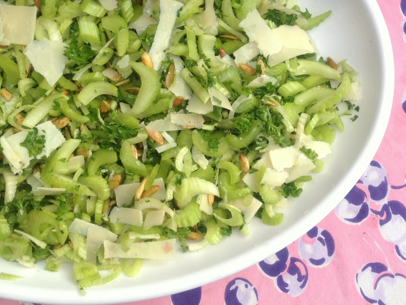 Crunchy Celery And Romaine Heart Salad Recipe — Dishmaps