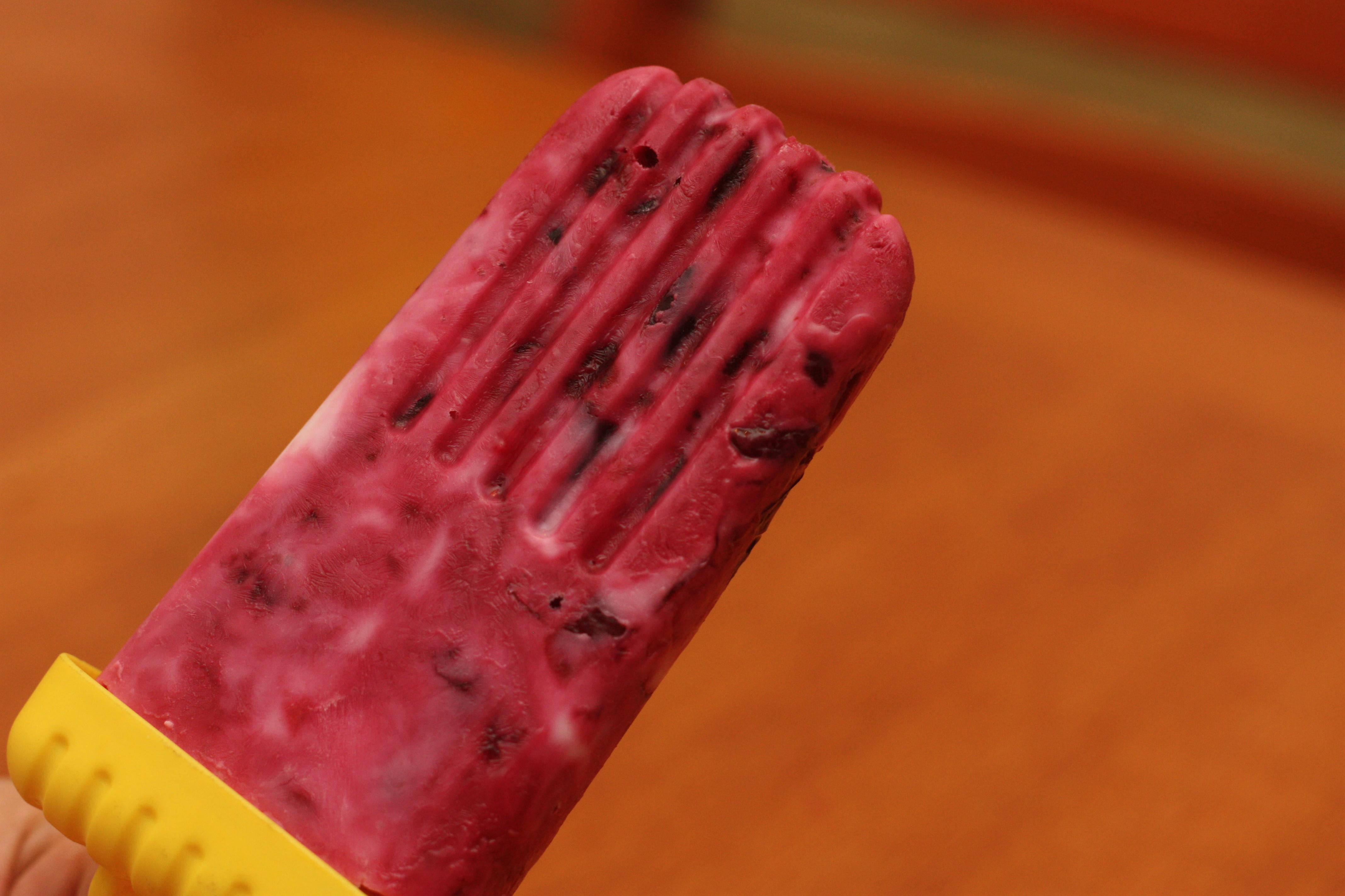 Cherry Yogurt Popsicles Recipe — Dishmaps