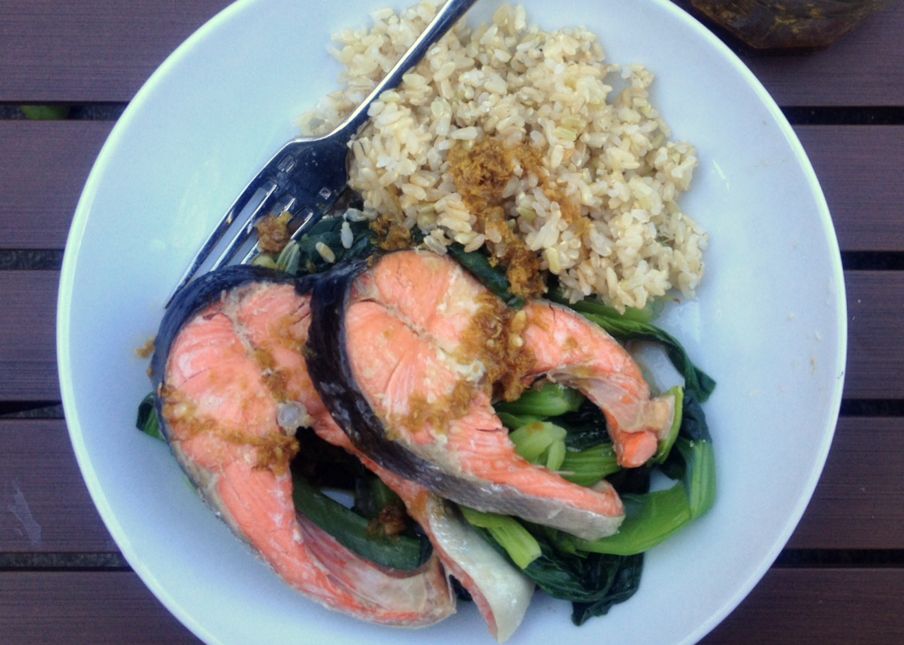 Steamed Fish and Bok Choy with Garlic and Ginger | Emmy Cooks