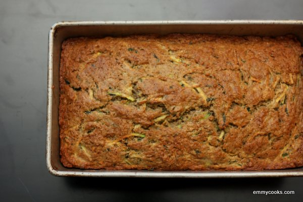 Zucchini Bread with Rye, Basil, and Mint from emmycooks.com