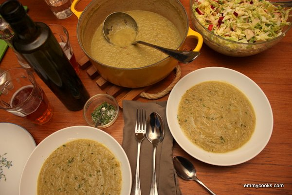 Creamy Roasted Celery Soup and Vegan Cookbook Giveaway | Emmy Cooks