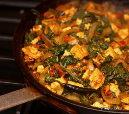 Saag Tofu (or Paneer) with Whole Spices | Emmy Cooks