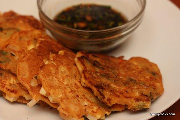 Kimchi and Tofu Pancakes