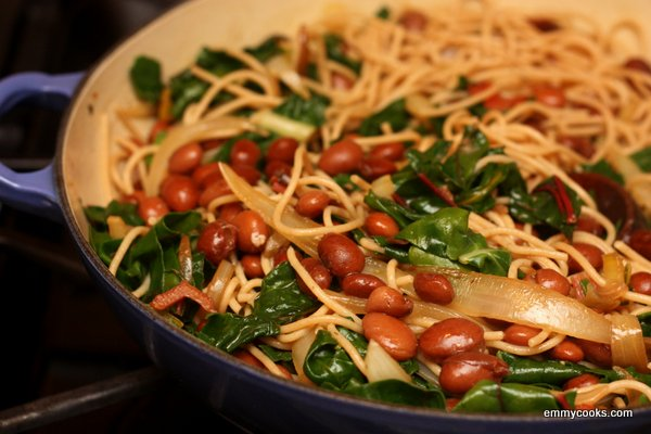 Pasta with Beans and Greens