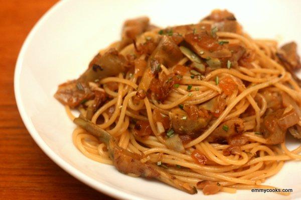 Artichoke and Rosemary Pasta