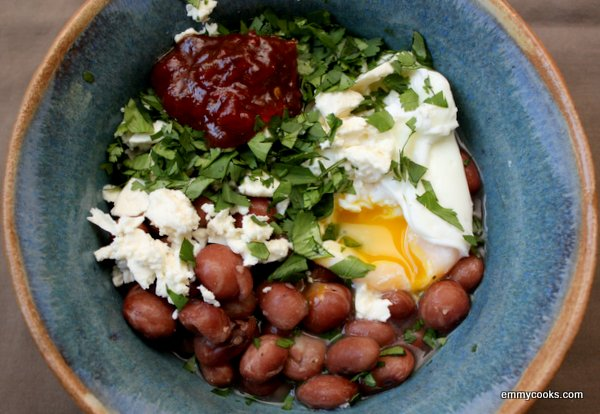 "thoughts on "" Breakfast (or Anytime) Bean Bowl """