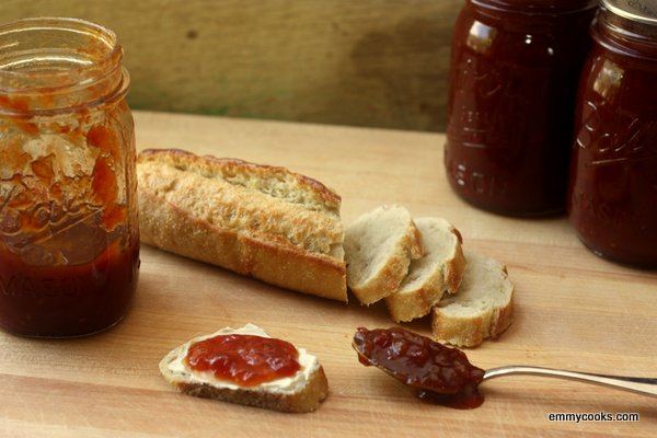 Tomato Peach Balsamic Jam